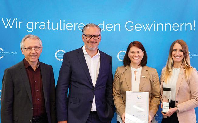 1. Platz beim Stadtwerke Award in der Kategorie »Energiewende«