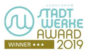 Gold beim Stadtwerke Award 2019