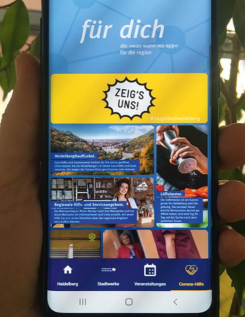 App »für dich« mit vielen Corona-Hilfsangeboten