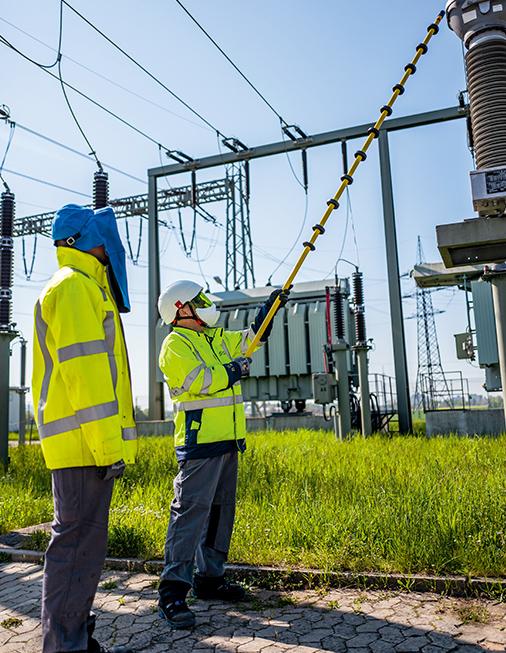 Arbeiten an technischen Infrastrukturen