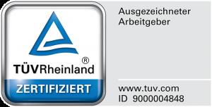 Ausgezeichneter Arbeitgeber durch den TÜV Rheinland